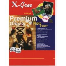Фотобумага X-GREE A4/50/180г  Глянцевая Премиум 53W180-А4