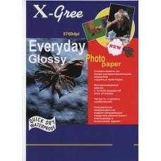 Фотобумага X-GREE Глянцевая EVERYDAY  A4/100/120г  E7120-А4-100