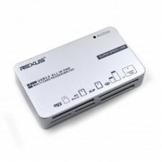 CardReader iETop TC-308, USB3.0 TypeC, TF/MSmicro/SD/MS/CF, Black, Silver