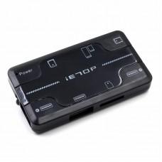 CardReader+HUB iETop CB-07, TF/MSmicro/SD/MS/3xUSB, Black
