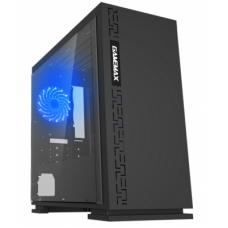 Корпус ПК без БП GameMax EXPEDITION H605-BLK<1x120mm, ATX micro, USB2.0x2, USB3.0x1, 350*180*380mm>