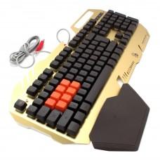 Игровая клавиатура Bloody B418-Golden, частично механическая, оптические свичи